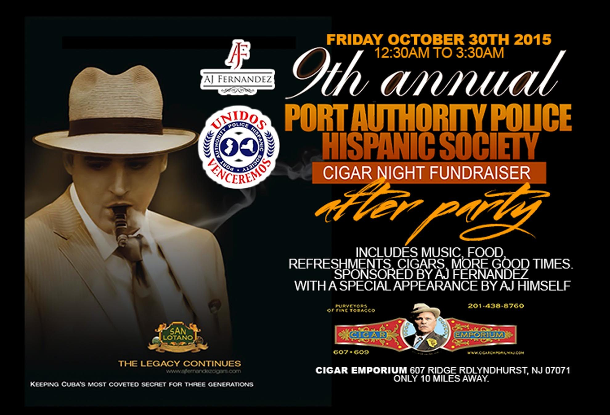 Cigar News: 9th Annual Port Authority Police Hispanic Cigar Society Night