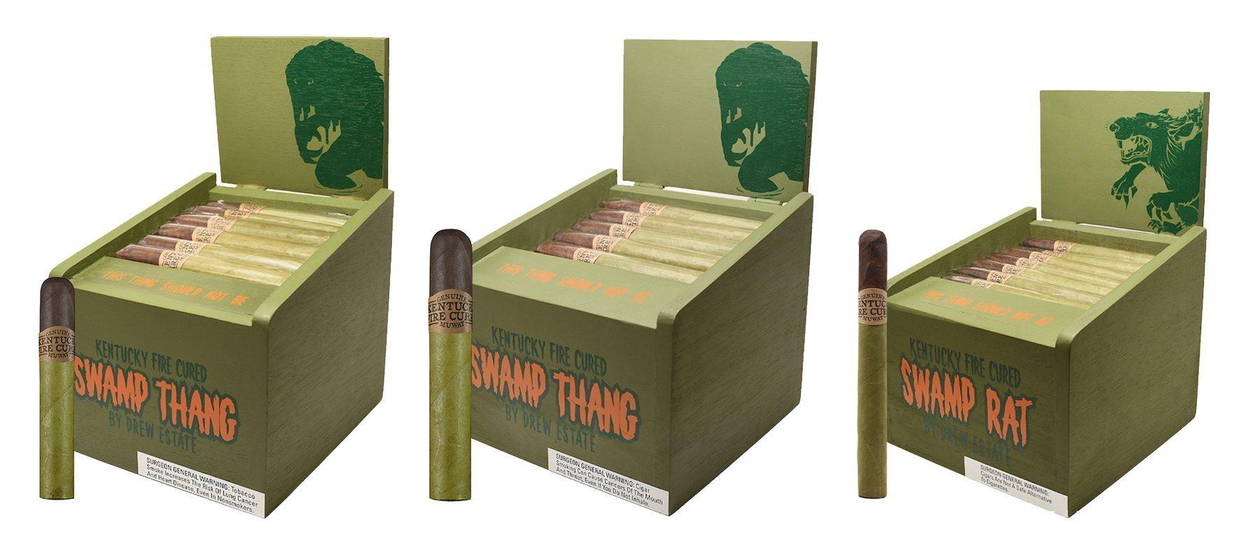 Cigar News: Drew Estate Ships Kentucky Fire Cured Swamp Thang & Swamp Rat